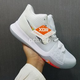Wholesale Fabric Switches - Kyrie 3 Time To Shine Basketball Shoes Mens Kyries 3 Pure Platinum Flip The Switch Samurai Sneakers Size us 7-12