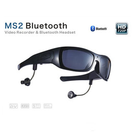 Wholesale Lens For Headset - 5.0 Mega Pixels Video Recorder & Bluetooth Headset with Polarized Sunglass Lens & Power Auto-saving Mode for Long Standby Time