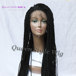 Wholesale Braiding Hair For Sale - Hot Sale Synthetic Kinky Twist Senegal lock Braided Lace Front Wig Mambo Twist Box Braid Hair Lace Front Wigs for Black Women