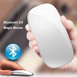 Wholesale Magic Tablet - Super Thin 1200DPI Bluetooth 3.0 Wireless Multi-Touch Magic Mouse 2.4GHz Mice Computer Laptop Tablet PC Mouse