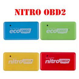Wholesale Gasoline Power - 10pc lot NitroOBD2 Gasoline Benzine Cars NitroOBD2 Diesel Chip Tuning Box NitroOBD More Power & Torque Nitro OBD Plug and Drive Nitro OBD