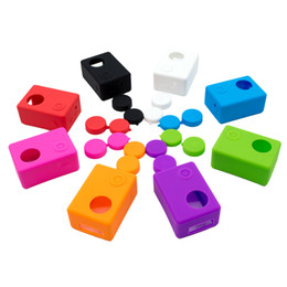 Wholesale hard lens cases - Wholesale- Action Camera Protector Full Covers Silicone Gel Protective Soft Case+Lens Cover for SJCAM SJ4000 WIFI