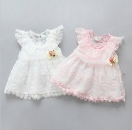 Wholesale Newborn Girl Winter Dresses - 2017 cute baby girls lace dresses newborn baby princess tutu skirts infant child toddler party wedding dress kids skirt