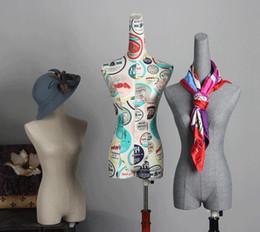 calze di seta Sconti Modo all'ingrosso 5 stili femminili metà del corpo modelli di nozze modelli display cosmetologia cucito-manichino per abiti da sposa 1PC B594