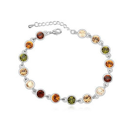 Wholesale Made Austria Bracelet - 18K Silver Plated Exquisite Bracelets Brand Jewelry Austria Crystal Accessories for Women Make With Swarovski Elements China