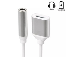 Wholesale Cable Jack For Earphone - 2 in 1 Colorful 3.5 mm Headphone Jack Adapter For iPhone 7 plus 6 6s plus Earphone Charger Cable High Quality