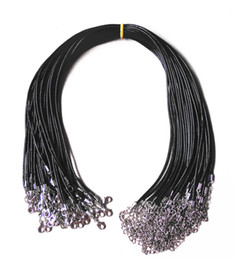 """Cordões para jóias on-line-50 pcs 17 """"cadeia de couro colar de corrente de 1.5 mm 2"""" cadeia de extensão diy cadeia de jóias fazendo"""