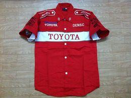 Wholesale Moto Skull - FIA Formula 1 word Road Racing Cotton summer shirts GSN NASCAR Motorcycle Racing shirt for toyota racing team Car F1 moto Team shirts