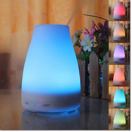 Wholesale Incense Oil Diffuser - Essential Oil Aroma Diffuser With 7 Color LED Ultrasonic Cool Mist maker Home Humidifier 100ml Aromatherapy Waterless Auto Shut-off