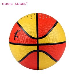 Wholesale Best Music Mobile - Original MUSIC ANGEL Best Mini Basketball Shape Wireless Bluetooth Speaker Outdoor Portable Music Player With MIC Support TF Card Handsfree