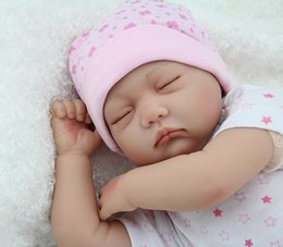 Wholesale Lifelike Dolls China - 55cm silicone reborn babies dolls closed eyes sleeping newborn baby lifelike best baby doll toys gifts