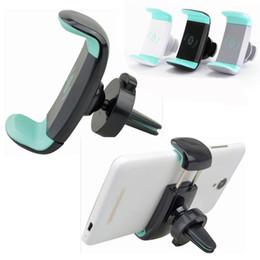 mini-handy-halter Rabatt Mini Air Vent Autohalterung Halter 360 Drehbarer Clip Ständer Für Mobile handy iphone 7 Samsung S8 OTH510