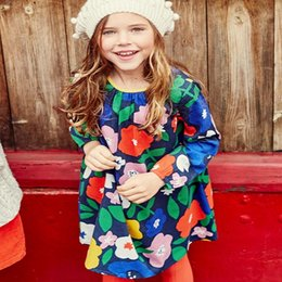 Wholesale Long Sleeve Dress Wholesale - Kidsalon Girls 100% Cotton Long sleeve Casual Princess Dresses Applique Cartoon Baby Girl Dress Lovely Baby Clothing