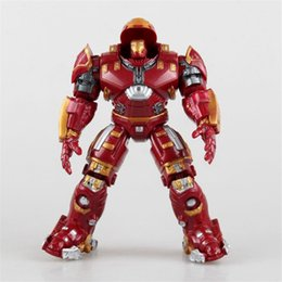 Wholesale Iron Man Doll Toy - Marvel The Avengers 2 Age Of Ultron Iron Man Hulkbuster PVC Action Figure Superhero Collectible Model Kids Toys Doll 17cm