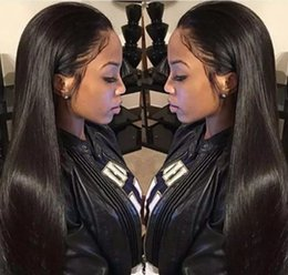 Wholesale Human Lace Wig 28 Inch - 100% Brazilian Virign Remy Human Hair Free shipping 10-28 inch STOCK Silky Straight African American Glueless Full Lace Wig Front Lace Wig