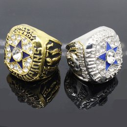 Wholesale Mens 14k White Gold Rings - Hot sale superbowl ring mens diamond rings vintage 1971 cowboy championship rings fine jewelry size 9-13 drop shipping