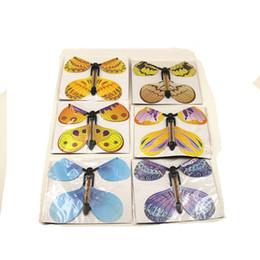 Wholesale Empty Toy - 100pcs lot magic butterfly flying butterfly from empty hands freedom butterfly magic tricks Mentalism magie kids children toy 82088