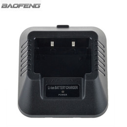 2019 forma de cargador de radio Al por mayor-Baofeng Li-ion adaptador de batería del cargador de base para BAOFENG UV-82 UV-5R UV-B5 UV-B6 BF-888S Walkie Talkie de dos vías de radio EU EE.UU. enchufe forma de cargador de radio baratos