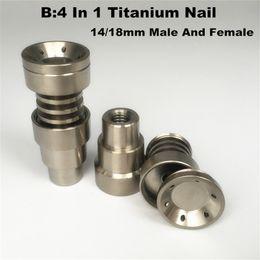 Evrensel Titanyum tırnak 4 1 Kubbesiz Titanyum Çivi 10 14 18mm Kadın Ve Erkek Titanyum Dab Tırnak nereden
