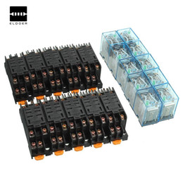 Wholesale 12v Relay Socket Pin - New Arrival10pcs Coil Power Relay LY2NJ 12V DC DPDT 8 Pin HH62P JQX-13F SET + Socket Base 27.5x 21x35.3mm Circuits Relays
