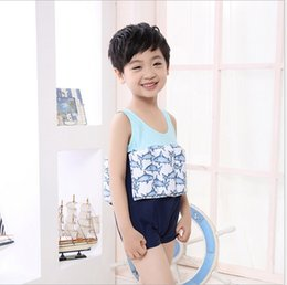 Wholesale Life Colour - The functional buoyancy children garments The boy cartoon conjoined life jackets The boy bathing suit,good.