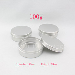 Wholesale Candle Tins - 100g X 20 empty aluminum cream container ,candle metal canning jar ,100ml cosmetic skin care cream bottle , tin storage pot