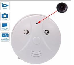 Wholesale Spy Dvr Smoke Detector - 32GB Smoke Detector camera motion Detection Model Hidden Spy Camera DVR Camcorder Spy DV + Remote White HD Smoke DVR