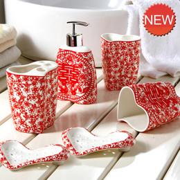 Sapone pennello online-Set di 6 tazze di pennello per lavaggio domestico ecologico, dispenser di sapone liquido, portasapone Accessori da bagno in ceramica europea