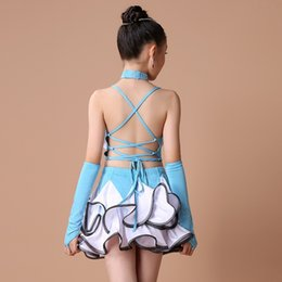 Wholesale Latin Dance Show - Mei Yu genuine leopard tiger zebra children girls dance skirt uniforms show new sequined tassels