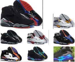 Wholesale Cheap Quality Boots - ship BOX 2017 air retro 8 VIII Basketball Shoes men high quality Sneakers Cheap Retro VIII Aqua retro 8 Sports Boots Free Shipping