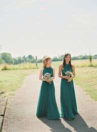 Wholesale Long Emerald Green Dress Cheap - Emerald Green Bridesmaid Dress To Party Gowns Special Occasion Dresses 2016 Cheap Long Bridesmaid Gowns Custom Made