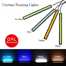 Wholesale Red Led Drl Strip - Car LED Lights Daytime Running Driving Light 12V for DRL Fog Light Driving lamp Waterproof 17cm COB DRL 4 Colors