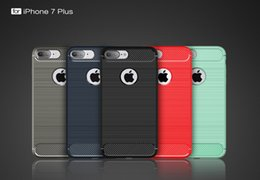 Wholesale New Ultimate - New Rugged Armor Hybrid Carbon Fiber Shockproof The Ultimate Experience Hard Case Cover for iPhone 7 6S 6 5S Free Shipping MOQ:30pcs