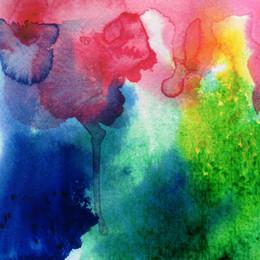 5x7ft винил цифровой непрозрачный Акварель живопись красный синий фотостудия фон от Поставщики краска