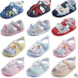 chaussures en crochet Promotion Bébé Sandales Stripe Animal Coton Chaussures D'été Lapin de Bande Dessinée Toddler Fond Souple Chaussures Enfants Mode Chaussures En Bas Âge Princesse Sandales J425