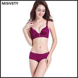 Wholesale Hot Milk Lingerie - Hot sale According to Mary together new small chest deep V sexy underwear on the centralized vice milk Big Sexy Lingerie