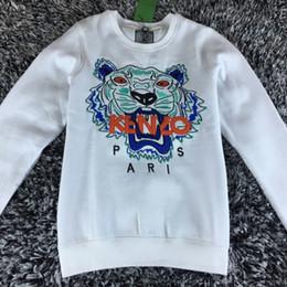 Wholesale Thin Sweatshirts Men - Hot Sale free shipping 2018 winter women fashion Men Women Embroidered tiger sweater brand women men hoodie Sweatshirts KENZ Fleece