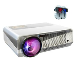 Wholesale Video Projector Prices - Wholesale-Promotion Price LED86 HD ready 5500Lumens movie Led projector 1080p native 1280*800 DVD proyectores video Portable 3D projection