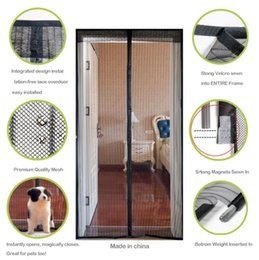 Wholesale Magnetic Mosquito Curtain Door - Summer Mosquito Net Curtain Screen Magnets Door Mesh Insect Fly Bug Mosquito Door Curtain Magnetic Net wn118