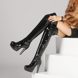 Wholesale Shoes Platform Long - Women boots High Heels over the knee boots sexy heels Snow Long Boot Winter shoes thigh high boots platform shoes