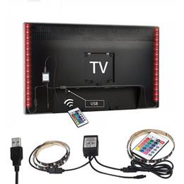 Wholesale Computer 24 - 2X50cm USB RGB LED Strip 5050 SMD Waterproof Flexible LED Backlight TV Kit Flat Screen LCD Desktop Computer LED TV Backlighting 24 Key
