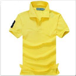 Wholesale Men Shirts Lapels - Polo Shirt Men 2017 New Brand Clothing Big Horse Embroidery Lapel Polo Shirt Cotton Short Sleeve Poloshirt Men 6XL High Quality Summer POLO