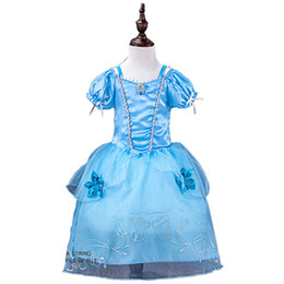 Wholesale American Lantern - Princess Girl's Sleeping Dresses 9 Styles Beauty Sofia Rapunzel Snow White Cinderella Belle Princess Party Costume Dress
