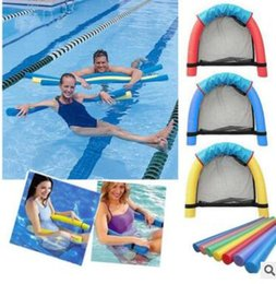 Wholesale Swimming Chairs - Pool Floating Chair Kids Swimming Floating Chair Portable Pool Noodle Chair Mesh Pool Float Chairs Seat Bed Water Bed Supplies