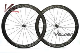 Трубчатое освещение онлайн-Дорожный велосипед Velosa RACE 50 с карбоновыми колесами 700C, клинчер / трубка 50 мм, ступицы DT 240S Sapim cx ray super light, аэродинамическая колесная пара