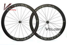 Wholesale Tubular Race Wheels - Velosa RACE 50 road bike 700C carbon wheels,50mm clincher tubular,DT 240S hubs Sapim cx ray super light aero wheelset