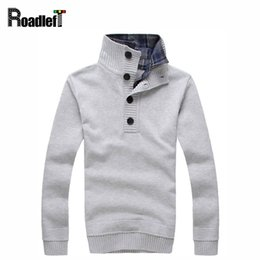 Wholesale Mens Thin Turtleneck - Wholesale- Mens autumn& winter turtleneck sweaters Men fashion faux two piece style sweater Men casual pullover