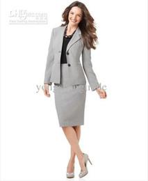 Wholesale Women S White Skirt Suits - Light Gray Women Suit Skirt Suit Women Clothes Tailored Suit Accept Custom Made