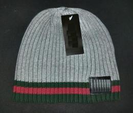 Wholesale Boys Straw Hat - high quality brand Luxury design Knitted Beanie Winter Hats for Men women Wool Hat Man Knit Bonnet Beanies Gorros Chapeu Thicken Warm Cap