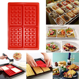 Wholesale Donut Maker Mold - Silicone forms 4-Cavity Waffles Cake  Chocolate Pan silicone mold Donut Maker fondant Baking molds for cake decorating